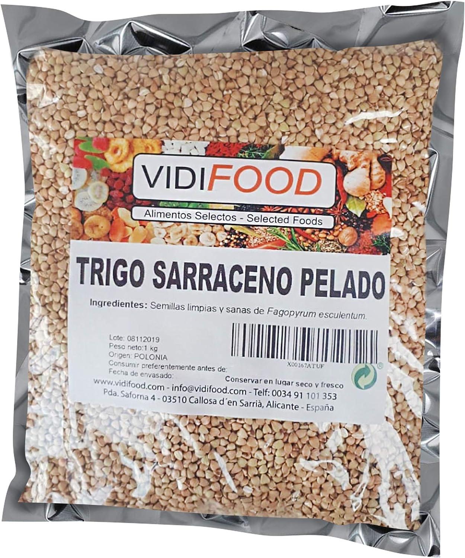 Trigo sarraceno - 1kg - Ideal para dietas cetogénicas y veganas - Tortitas de cereal sin gluten - Cereal para fideos soba: Amazon.es: Alimentación y bebidas