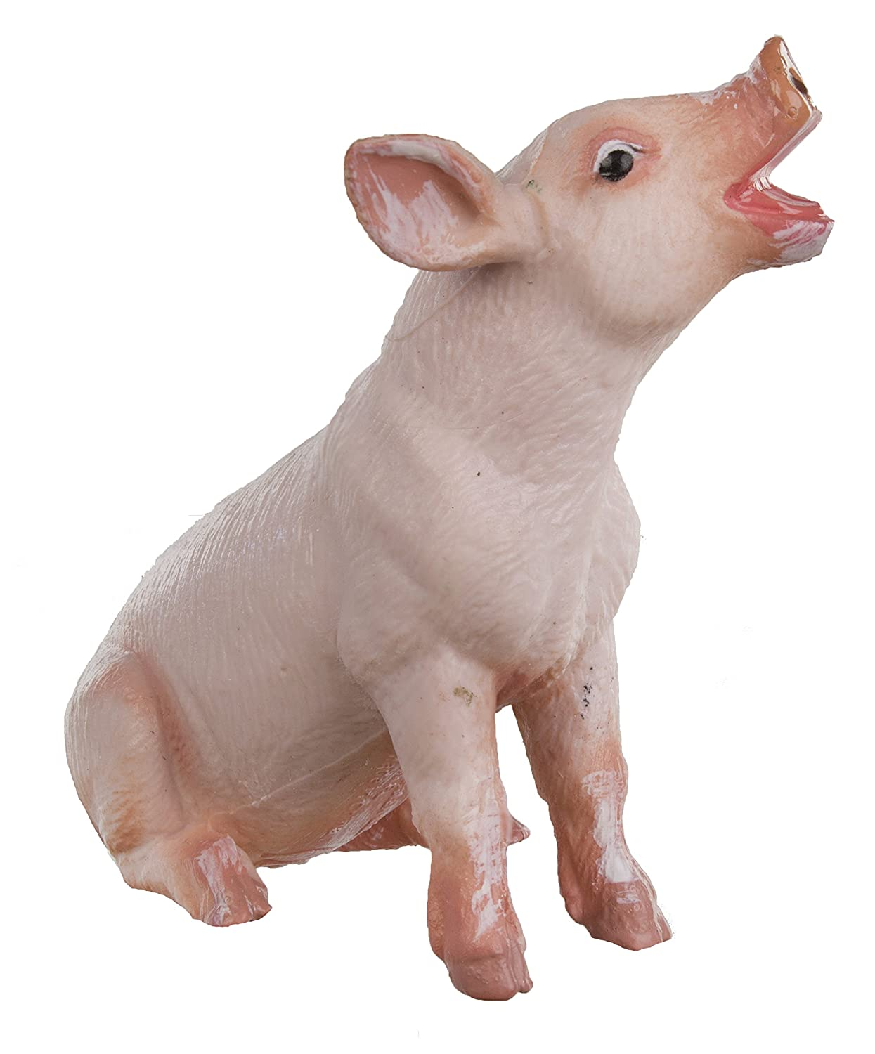 Quality Construction from Safe and BPA Free Materials For Ages 3 and Up 245829 Sitting Piglet Safari Ltd Safari Farm Educational Hand Painted Figurine