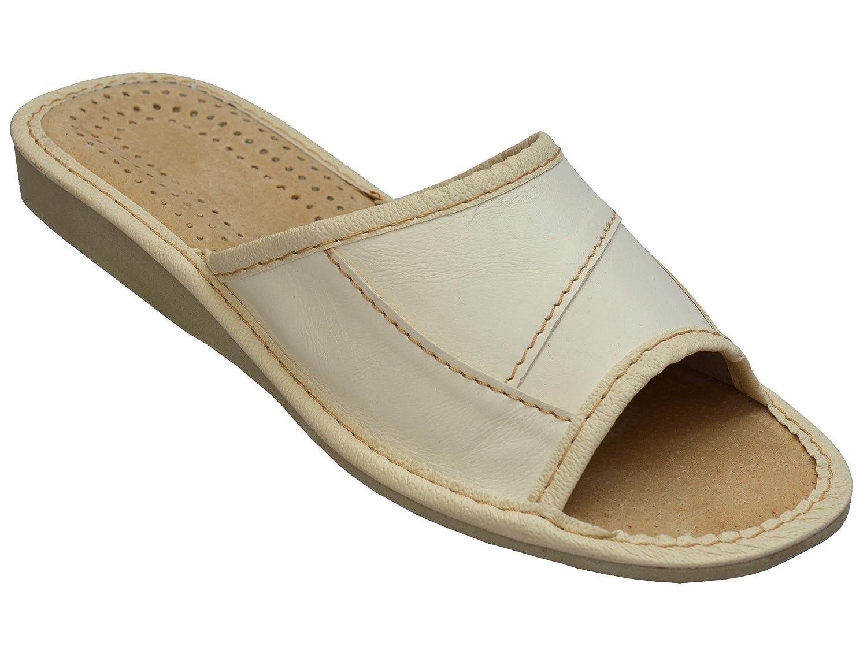 Bawal Pantofole in Pelle Donne Gomma Suola in Gomma Donne Ciabatte Slippers Diversi Modelli 36-41 XA20 Beige 27815f