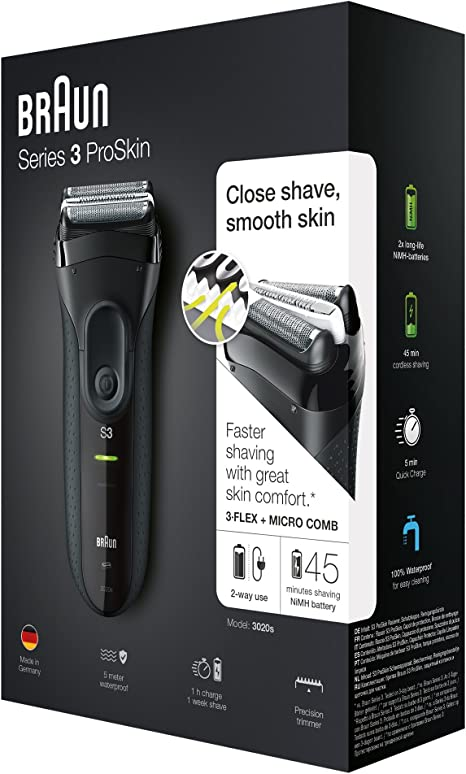Braun 3020S Afeitadora eléctrica, plastico, Negro, 22,2: Amazon.es ...