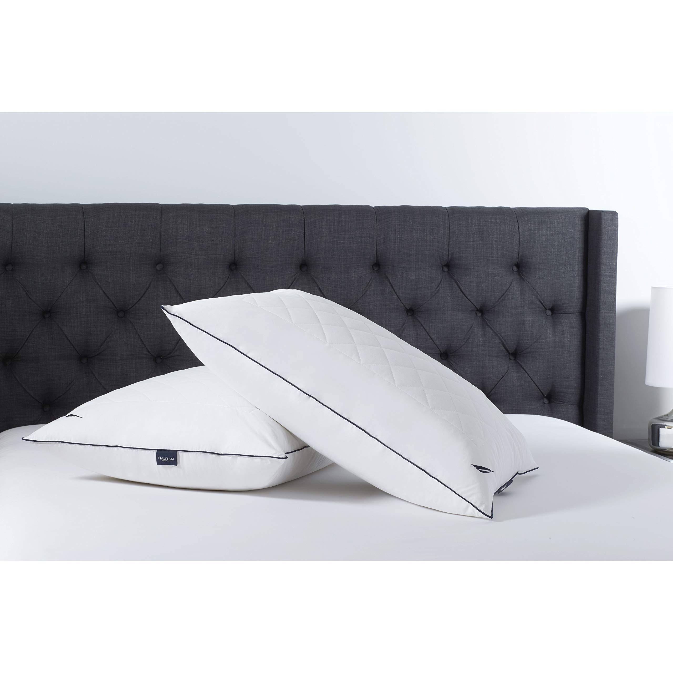 Nautica All Sleep Positions Adjustable Memorelle Twin Pack Pillow, Jumbo by Nautica