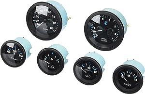 Sierra International Eclipse 6 Gauge Kit Includes Fuel, Engine Oil Pressure, Speed, Tach & Water Temp Gauges