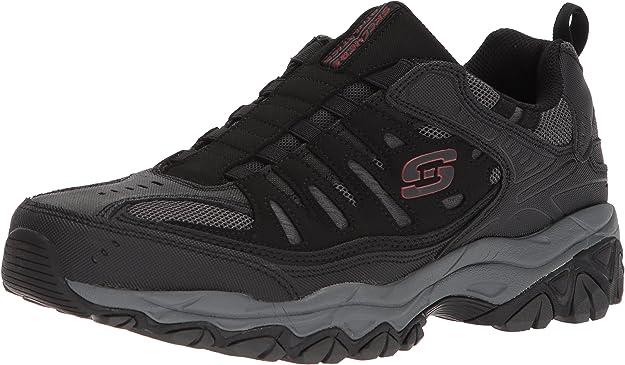 Skechers Sport Men's Afterburn M. Fit Wonted Loafer,black/charcoal,6.5 M US