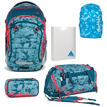 e9cd34af40 Ergobag Satch Match by Petrol Triangle Box in 5 Pieces Set School Backpack  + Gym bag