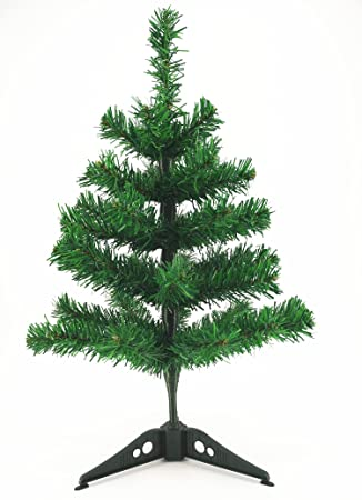 Com 2 Pre Lit Artificial Table Top Christmas Tree Clear