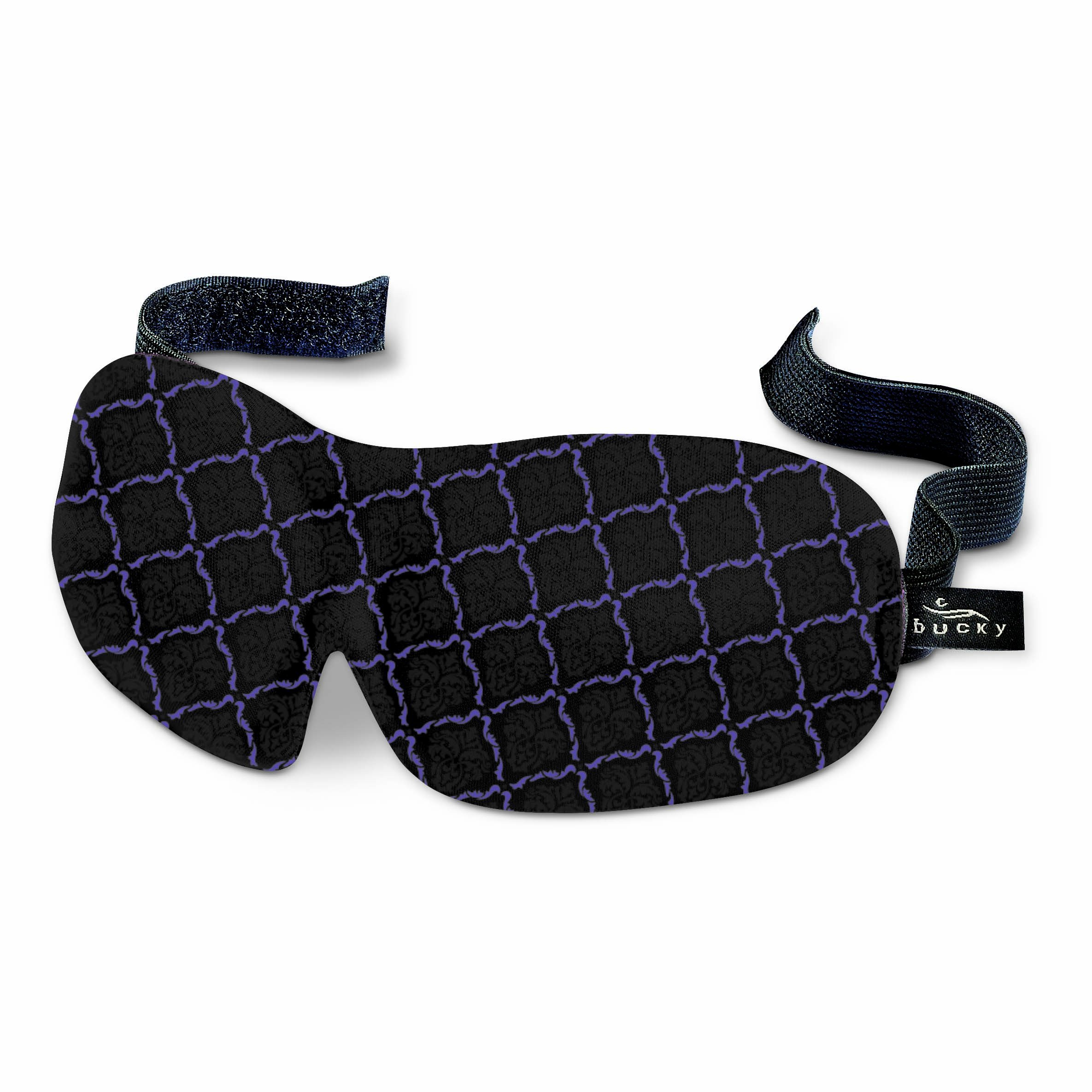 Bucky 40 Blinks Ultralight & Comfortable Contoured, No Pressure Eye Mask for Travel & Sleep, Perfect With Eyelash Extensions - Lattice