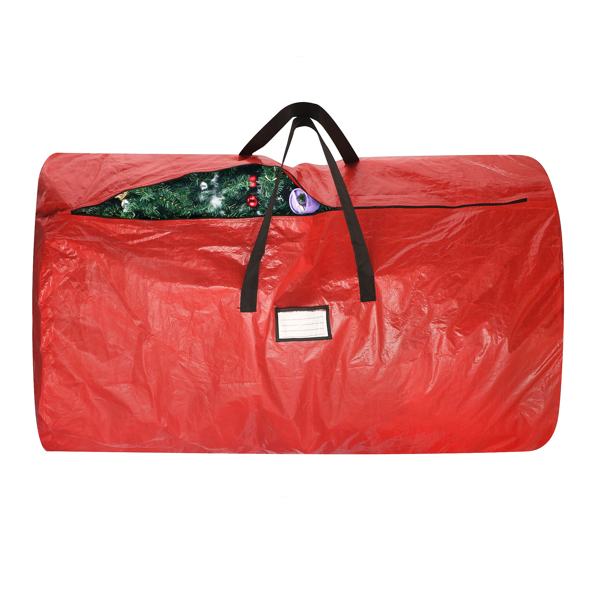 elf stor premium red holiday christmas tree storage bag large 30 x 52 bag ebay. Black Bedroom Furniture Sets. Home Design Ideas