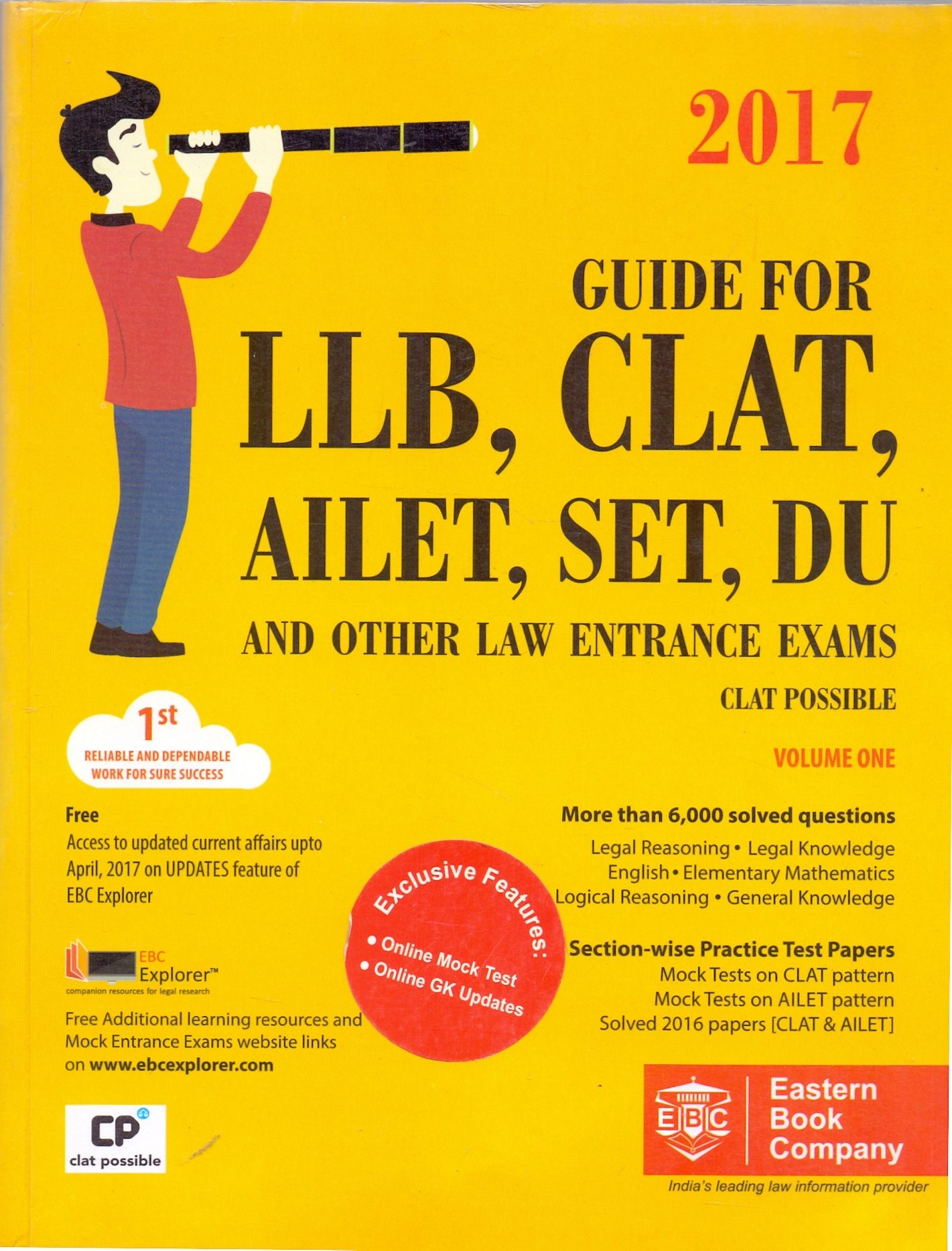Buy Guide For LLB, CLAT, AILET, SET, DU And Other Law Entrance Exams(Set Of  Two Volume) Book Online at Low Prices in India | Guide For LLB, CLAT,  AILET, ...