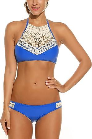 8768c94fba7bc ADOME Women s Two Piece Bikini Set Swimsuits Flounce Bathing Suit Set