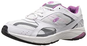 Dr. Scholl's Women's Curry Fashion Sneaker, White/Purple, 7.5 M US