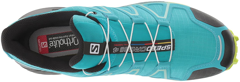 Salomon Women's Speedcross 4 W Trail Runner B078SZBVLY 8 B(M) US|Bluebird/Acid Lime/Black