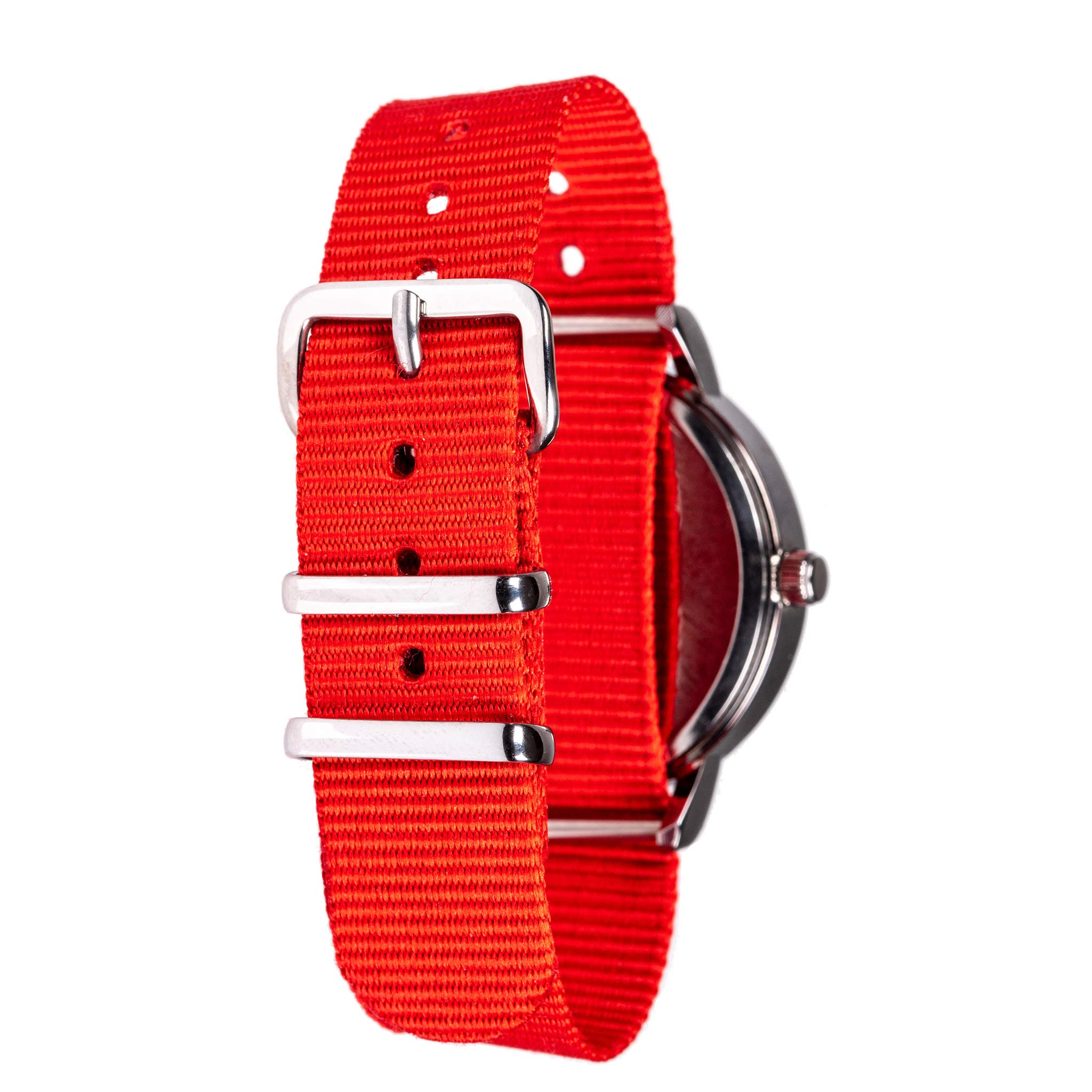 EasyRead Time Teacher Children's Watch, Red Blue Past & to Face, Red Strap by EasyRead Time Teacher (Image #2)