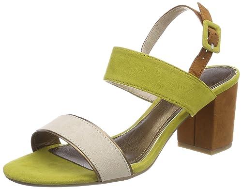 Marco Tozzi 28308 Sandali con Cinturino alla Caviglia Donna Verde Lime
