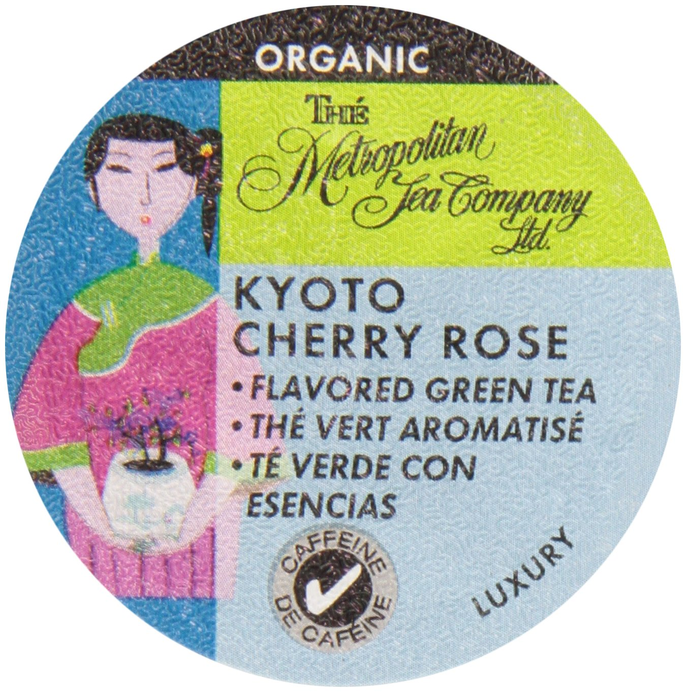 Organic Sencha Kyoto Cherry Rose Festival Green Tea K-Cups - 24 count
