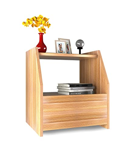 Forzza Bolt Side Table with Drawer (Teak)