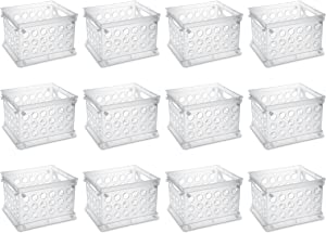 Sterilite 16958612 Mini Crate, Clear, 12-Pack