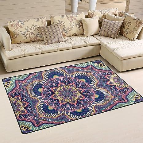 Indian Mandala Playmat Floor Mat For Dining Room Living Room Bedroom Size 5 X3 3