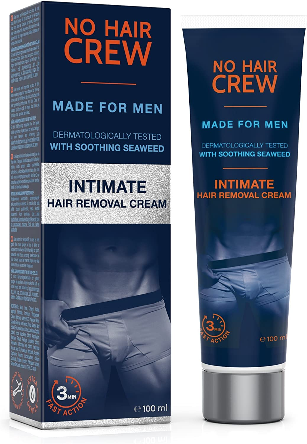 No Hair Crew Premium Intimate Hair Removal Cream Extra Gentle