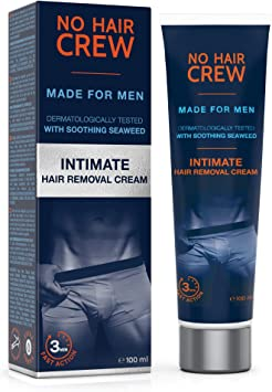 No Hair Crew Premium Intimate Hair Removal Cream Extra Gentle Hair Removal Cream For Sensitive Areas Made For Men 100 Ml Amazon Co Uk Health Personal Care