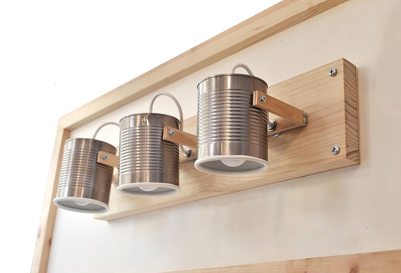 ▄ Faretti direzionabili - lampadine LED incluse ▄ Fatti a mano, eco-friendly :creati riciclando latte di pomodoro ! Molti colori disponibili . 3 punti luce direzionabili . Per soffitto o parete .
