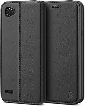 BEZ Funda LG Q6, Carcasa Compatible para LG Q6, Libro de Cuero con ...