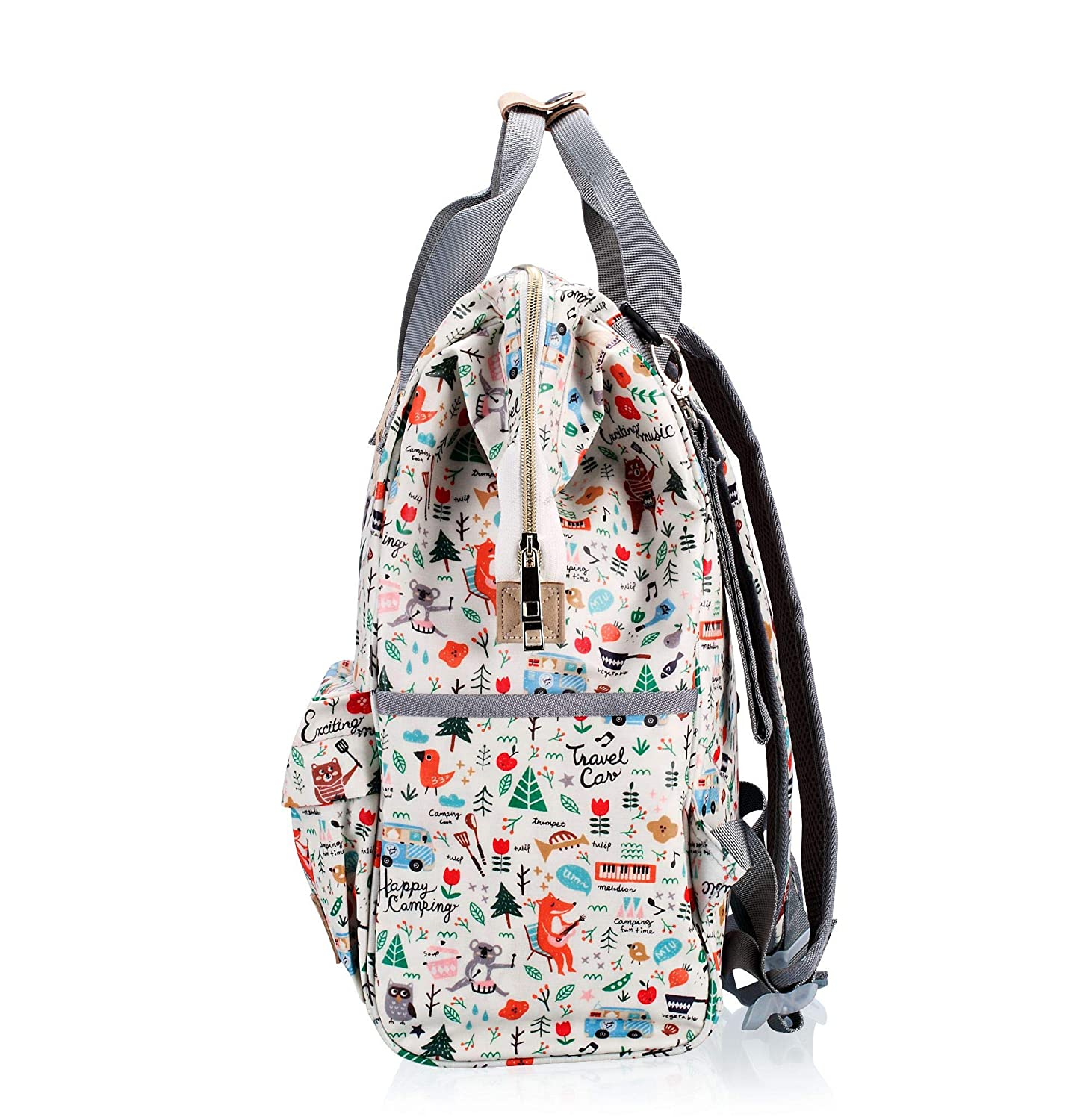 Diaper Bag Backpack,IHONEY Waterproof Cute Design Baby Nappy Backpack for Boys and Girls with Insulated Pockets /& Stroller Straps