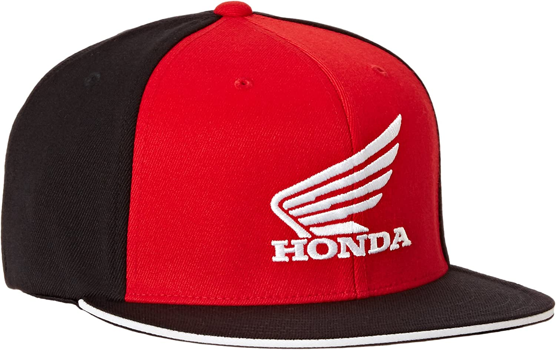 Black//Red, Small//Medium Factory Effex 15-88340 Honda Horizontal Flex-Fit Hat