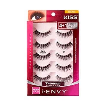 d763fdc7370 Amazon.com : Kiss I Envy Beyond Naturale 01 Lashes Demi Wispies Value Pack  : Beauty