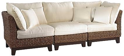 Panama Jack Sunrooms 3 PCPJS-1001-S Sanibel Sofa with Cushions, Sunbrella Dolce Oasis