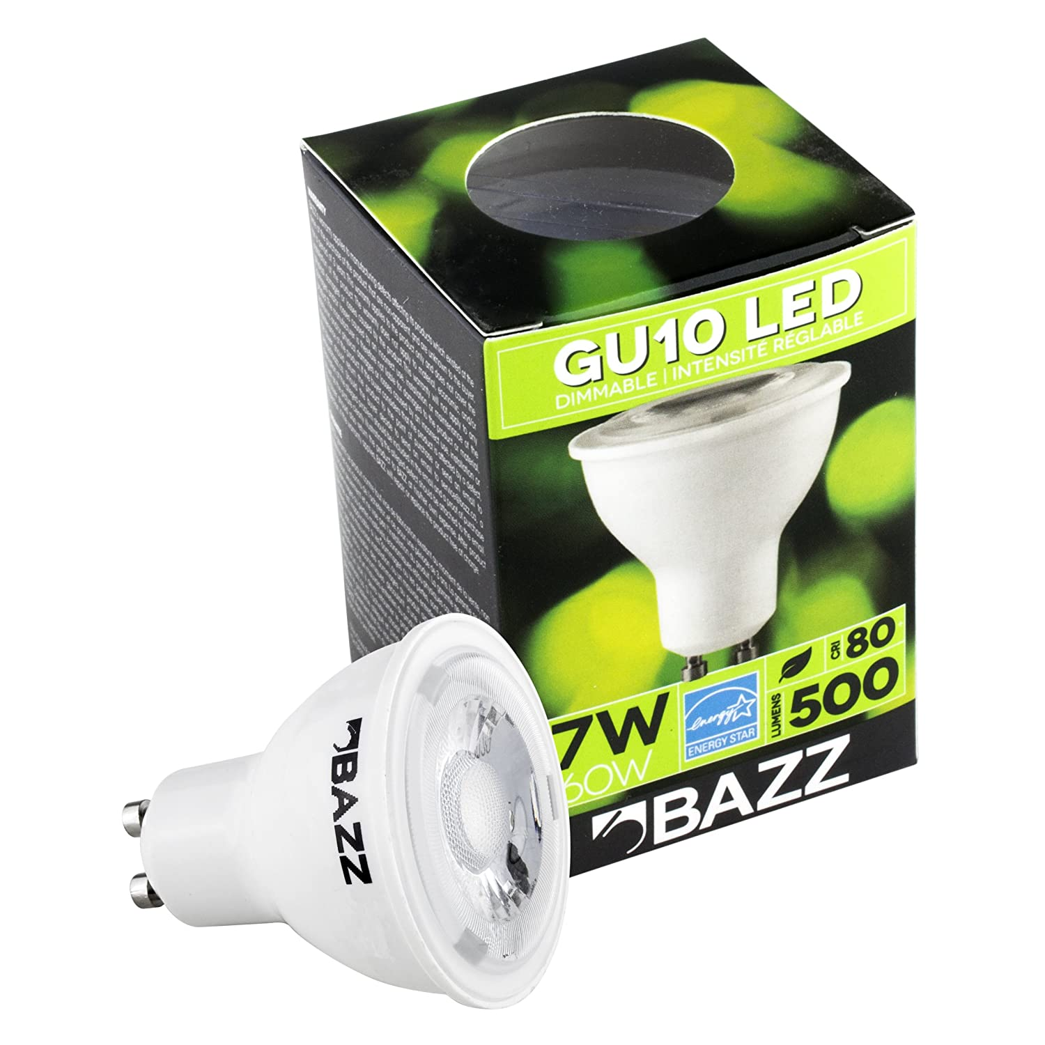 Bazz BGUA7EZ LED 7W GU10 Bulb Energy Star White Long-Lasting Dimmable