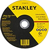 STANLEY Disco de Corte Metal de 4.1/2 Pol. x 1/8 Pol. x 7/8 Pol. (114mm x 3,18mm x 22mm) STA0410F