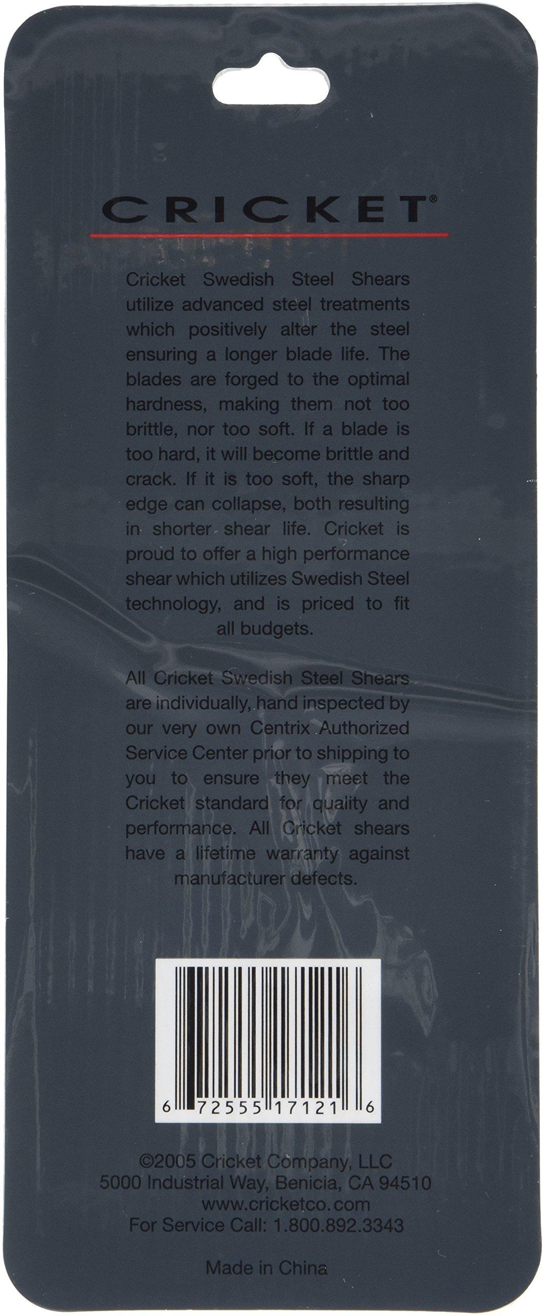 Cricket S-3 500 Carded Professional Hair Shear, 5 Inch, 2.88 Ounce