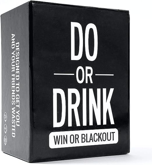 Do or Drink - Juego de Cartas para Beber. Juego divertido y sucio para adultos. Reto o Beber para universidad, campamento, cumpleaños 18, cumpleaños 21 o juego antes de la fiesta. Diversión
