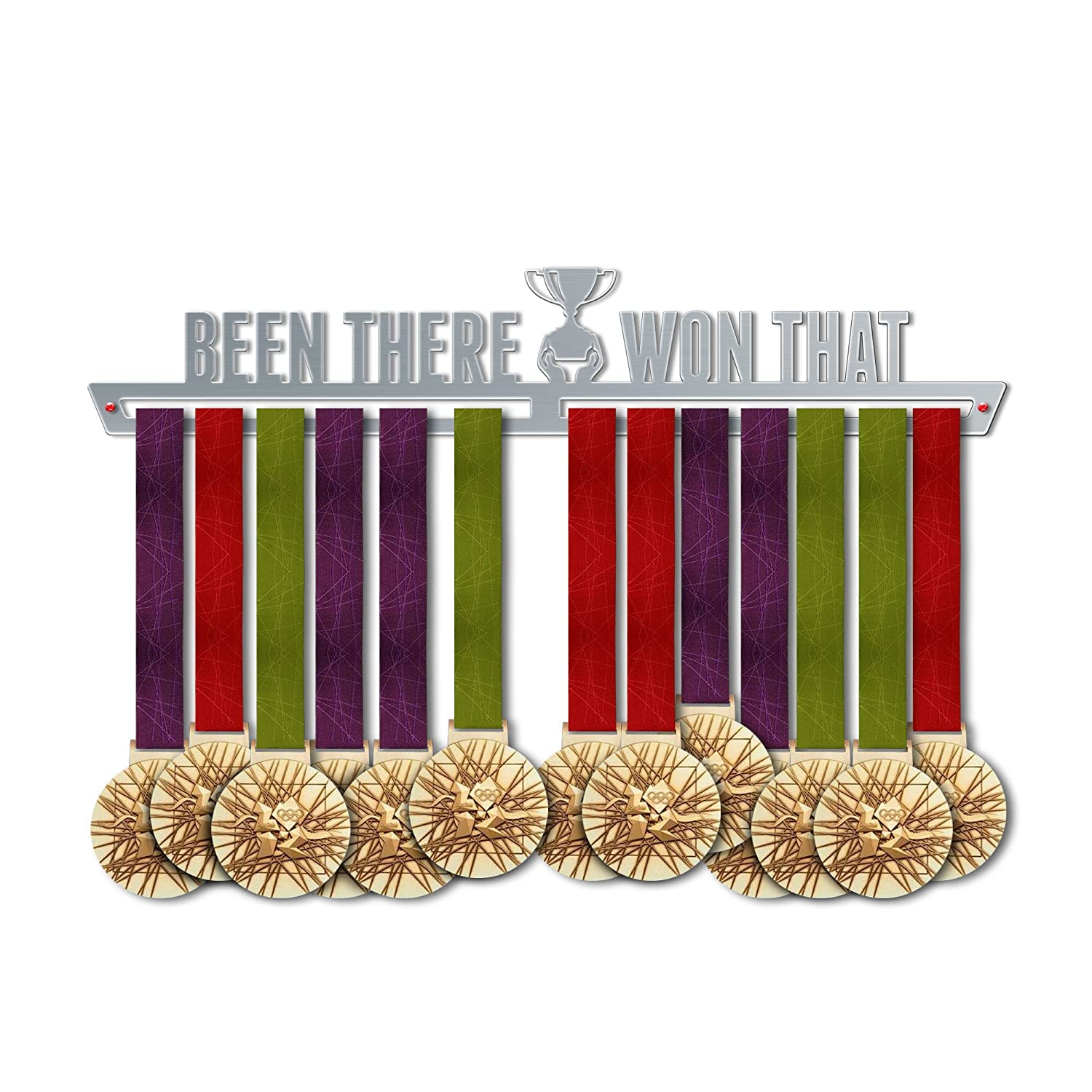 Been There Won Thatメダルハンガー表示  Motivationalメダルハンガー ステンレススチールMedal表示  by victoryhangers – The Best Gift For Champions 。 B079HTDWXR  29.53 ミリメートル