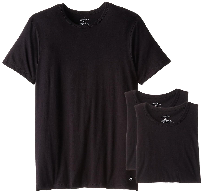 Black t shirt calvin klein - Calvin Klein Men S 3 Pack Cotton Classic Short Sleeve Slim Fit Crew Neck T Shirt At Amazon Men S Clothing Store