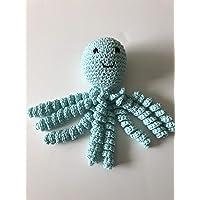 Crochet Octopus for Preemies, Crochet Octopus for Babies in Robbin Egg Color, Crochet Amigurumi