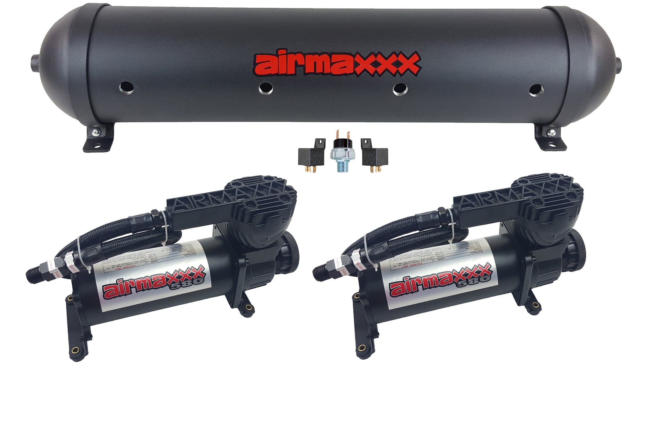 airmaxxx Air Compressors 580 Black & 33'' Seamless Aluminum Tank Black