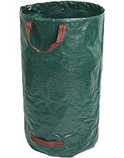 GIOVARA 120 litros de Bolsas de Basura de jardín, Resistentes al Agua, Grandes Bolsas de Basura con Asas, Plegables y Reutilizables