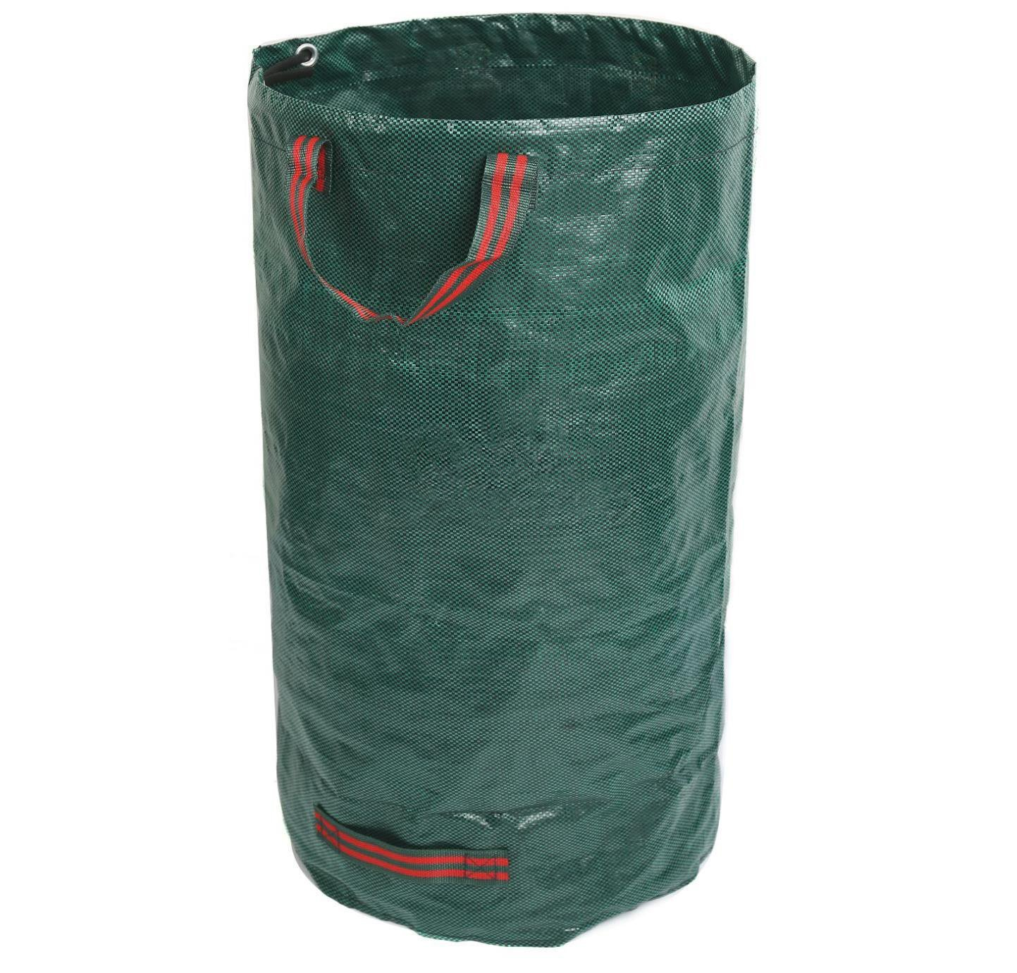 GiovaneDora 272L Garden Waste Bags, Waterproof Heavy Duty Large Refuse Sacks with Handles, Foldable and Reusable (1) YANGMING