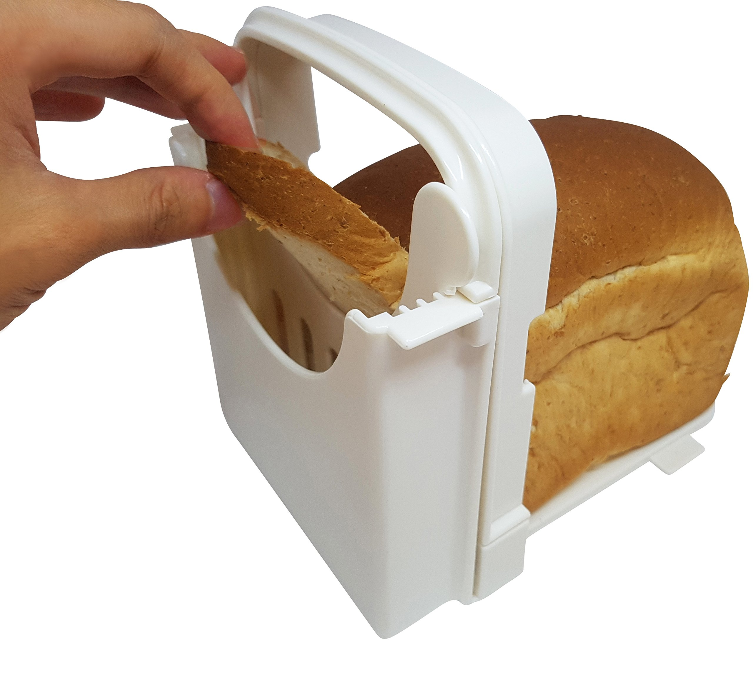 Eon Concepts Bread Slicer Guide For Homemade Bread With Mini Bread Recipe E-Book | Loaf Cutter Machine - Foldable Adjustable & Customizable to 5 Thickness | Bagel / Sandwich / Toast Slicer by Eon Concepts (Image #5)