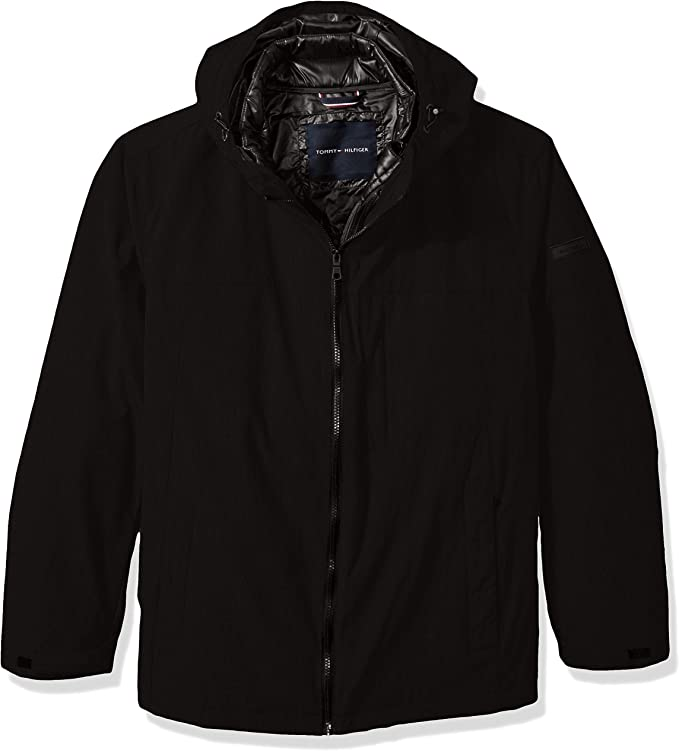 Tommy Hilfiger Men's Big Mountain Cloth 3-in-1 Systems Jacket