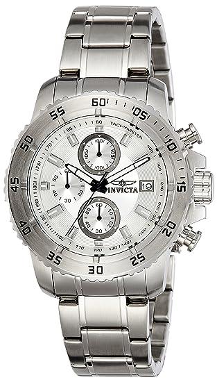 Invicta 21570 Pro Diver Reloj para Hombre acero inoxidable Cuarzo Esfera plata: Amazon.es: Relojes
