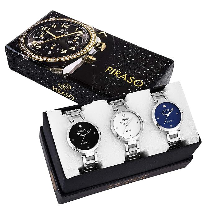 Piraso Analog Black Dial Women's Watch