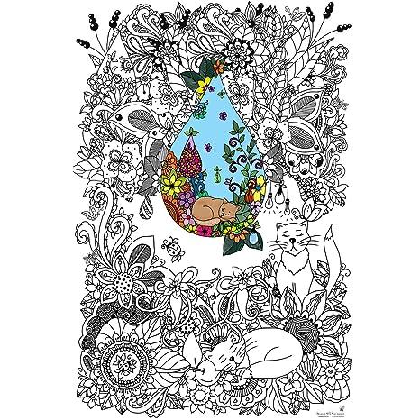 Amazon.com: Great2bColorful Original Big Coloring Poster (24 ...
