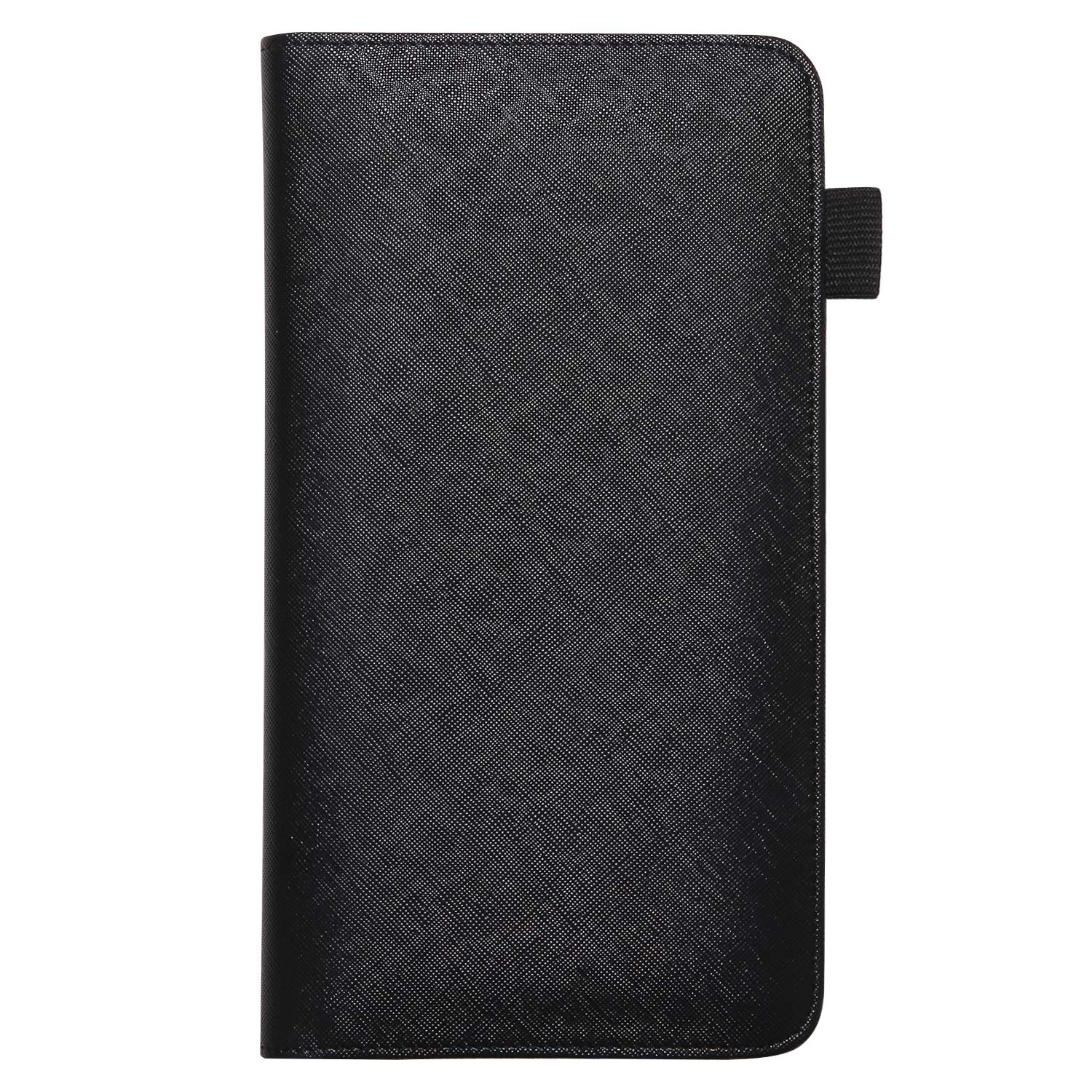 Black Mymazn 5 X 9 Mermaid Server Book for Waitress with Magnetic Closure Zipper Pocket and Pen Holder
