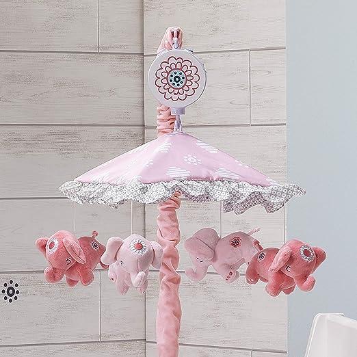 Amazon.com: Lambs & Ivy Boho Elefante rosa/blanco/menta ...
