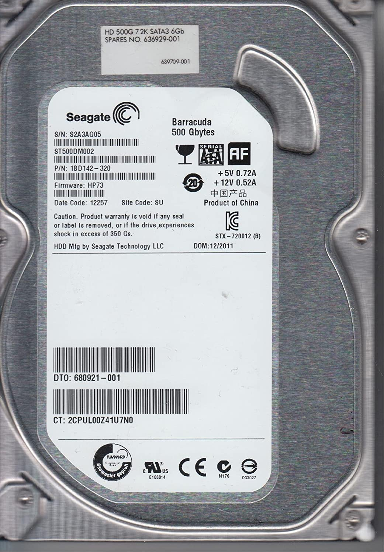 "Seagate Barracuda 500GB Internal 7200RPM 3.5/"" ST500DM002 HDD"