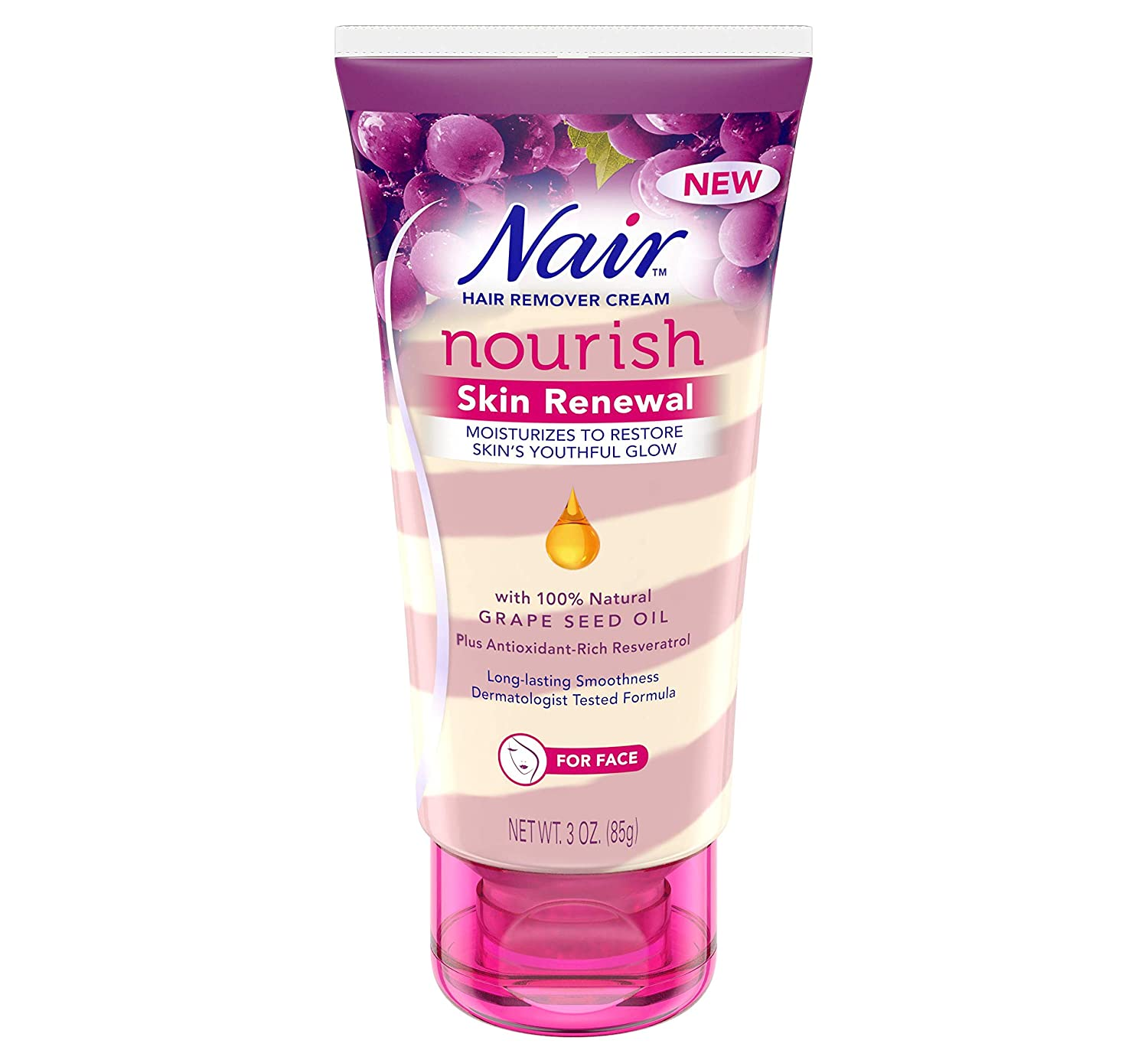 Nair Hair Remover Nourish Skin Renewal Face 3 Ounce (88ml) (2 Pack)
