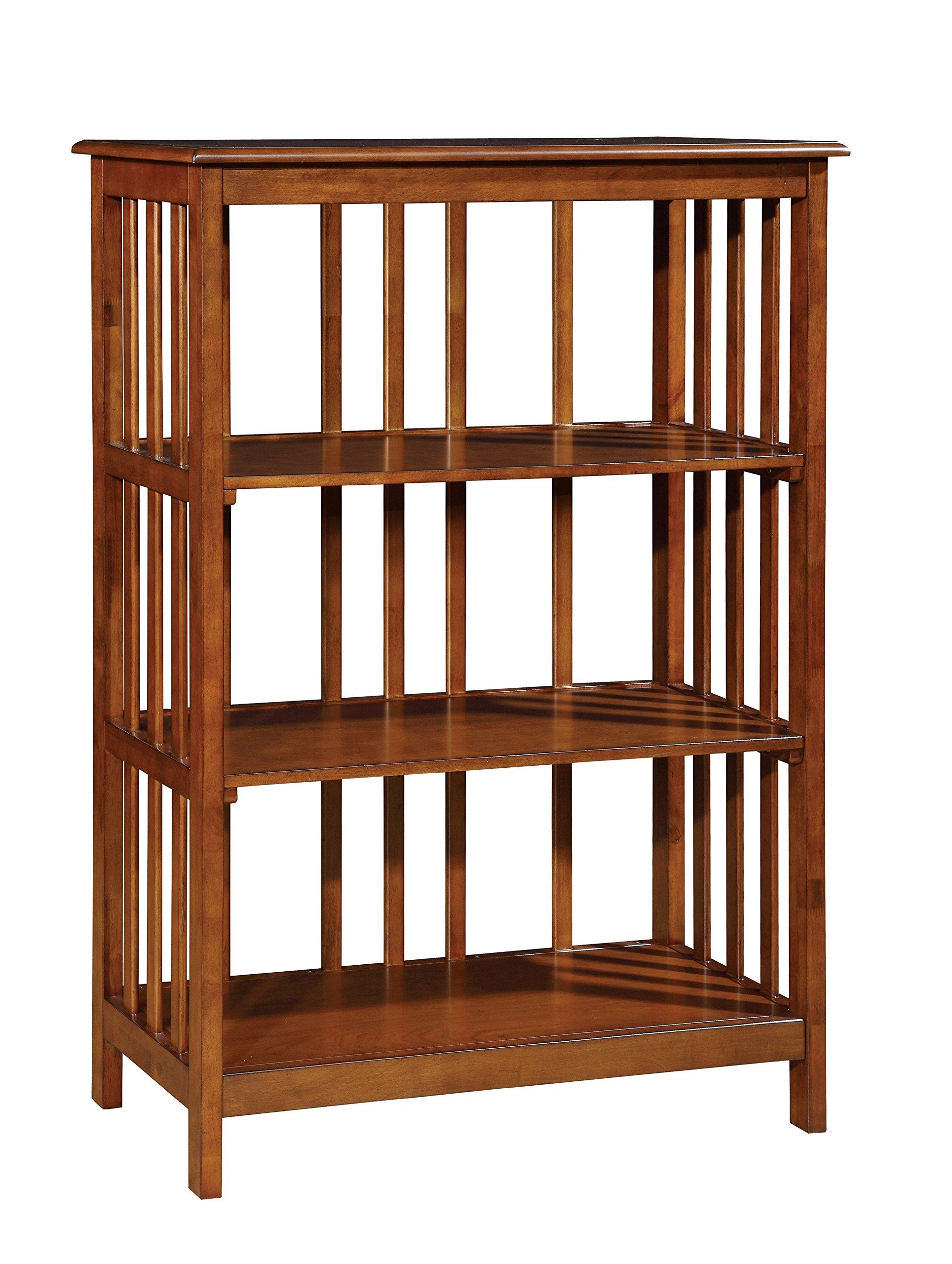 Furniture of America Padilla Mission 3-Tier Shelf, Oak by Furniture of America