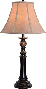 Kenroy Home Classic Table Lamp, 32 Inch Height, 17 Inch Diameter with Oil Rubbed Bronze Finish w/Natural Marble Accents